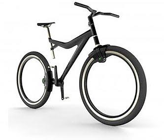 Рабочий концепт велоколеса без спиц Пока колесо не будет удерживаться в раме каким то аналогом магнитного замка чтобы свести трение к нулю реального смысла в такой компоновке нет